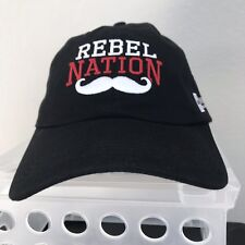 UNLV University Of Nevada-Las Vegas Rebel Nation Cap Hat Black CSUN Mustache