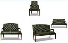 Sofagarnitur 3+2+1 Ledersofa Couch Sofa Garnitur Chesterfield Englischer Stil