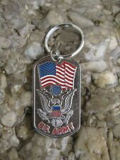 US Army Insignia Dog Tag Key Ring Chain Schlüsselanhänger Navy USMC Navy WK2 #1