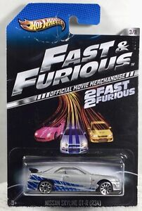 HTF Hot Wheels Fast & Furious Nissan Skyline GT-R 1/64 Diecast Car (Wheel Error)