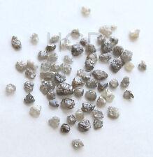 100% NATURALE Loose ROUGH RAW Uncut RARA diamanti veri GRIGIO SCURO 2,60 mm 10 CRT +