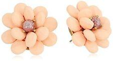 Crystal Center Flower Stud Earrings Betsey Johnson Marie Antoinette Gold-Tone