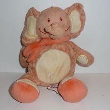 Doudou Eléphant  Orange Bengy
