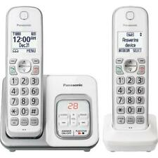 Panasonic KX-TGD532W DECT 6.0 1.9GHz 2 Handset Cordless Phone With Digital An...