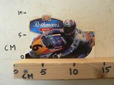 STICKER,DECAL ROTHMANS RACING HONDA NSR HRC NO 6 RHEOS HELMET  MOTO GP