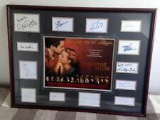 Shakespeare in Love autograph set - framed and mounted with original mini quad