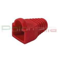100x Copri connettore gommino per plug cavo di Rete ethernet RJ45 Lan 8p8c Rosso