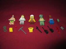 LEGO Spongebob Minifigures LOT Spongebob,Patrick,Squidward,Mr.Krabs,Sandy.Plank