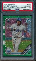 PSA 10 WANDER FRANCO 2019 Bowman Chrome GREEN SHIMMER REFRACTOR #/99 RC GEM MINT