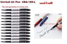 12 x UNIBALL AIR MEDIUM UBA-188-L ROLLER BALL PEN 0.7mm BLACK MITSUBISHI GENUINE