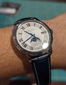 Raymond Weil Maestro Moonphase Automatic Watch Mint Condition