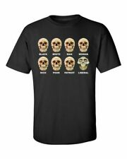 Funny Political Liberal Skull Adult Unisex Short Sleeve T-Shirt