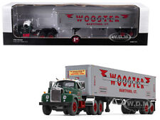 """MACK B-61 DAY CAB W/ 40' VINTAGE TRAILER """"WOOSTER"""" 1/64 BY FIRST GEAR 60-0410"""