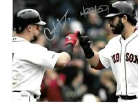 Mitch Moreland Christian Vazquez Boston Red Sox Autographed 16x20 Photo coa-JSA