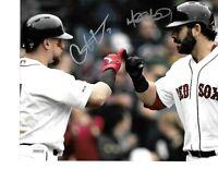 Mitch Moreland Christian Vazquez Boston Red Sox Autographed 8x10 Photo coa-JSA