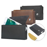 Pierre Cardin For Sumsung S20 S10 S9 Plus Case Phone Pocket Bag Genuine Leather