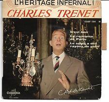 EP CHARLES TRENET -L'HERITAGE INFERNAL- COLUMBIA 1960 LANGUETTE