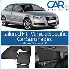 AUDI A3 3DR 2003-2012 UV CAR SHADES WINDOW SUN BLINDS PRIVACY GLASS TINT BLACK