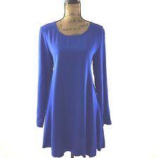 NEW MinkPink Dress Medium Royal Blue Viscose A Line Trapeze Keyhole Swing NWT