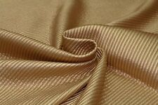 5mm Striped Quilted Faux Leather Dress Fabric Material (Metallic Gold Tone)