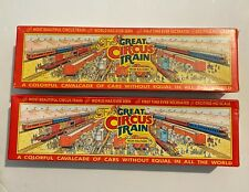 4 DIFFERENT WALTHERS HO SCALE THE GREAT CIRCUS TRAIN SERIES EMPTY BOXES
