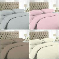 200 TC DUVET COVER SET + PILLOWCASES HOTEL QUALITY 100% EGYPTIAN COTTON BEDDING