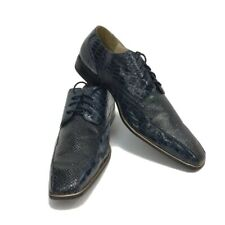 Hugo Vitelli Men's Navy Blue Dress Shoes Oxfords US Size 15