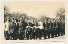 Foto Polen-Borów -Batt.Nebelwerfer zum Befehlsempfang  2.WK   (e472)