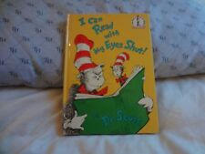 I CAN READ WITH MY EYES SHUT!  BY DR. SEUSS . HC . 9.25 X 6.75