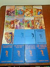 16 Vintage Nancy Drew Mystery Book Lot Some w/ DJ Early Blue Covers No Dups