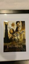 Signed Lord of the Rings The Two Towers Movie Print