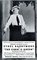 1945 Ethel Barrymore Actress The Corn is Green Film Advertising NYC Postcard HD