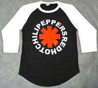 RED HOT CHILI PEPPERS T-shirt Rock Raglan Baseball Tee Adult Men 3/4Sleeve New