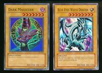 YuGiOh Dark Magician SYE-001 1st Edition & Blue-Eyes White Dragon SKE-001 Unl.