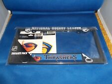 NHL HOCKEY LEAGUE ATLANTA THRASHERS 3 PIECE SET PENNANT FLAG LICENSE PLATE NEW