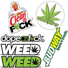 Marijuana Hemp Weed Decals Dope Kush Sticker Pack Budway 420 For Hydro Flask