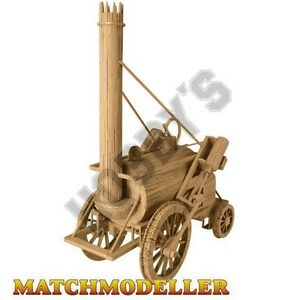 Stephenson's Rocket 1829 Matchstick Matchmodeller Model Kit NEW