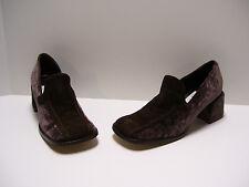 Osvaldo Pericoli Womens Shoes Sz 8.5 - 9 M US 39 EUR Brown Velvet Heels Slipons