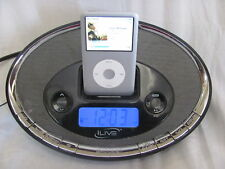 iLive iCR6307DT Black Dual Alarm Clock Radio/ iPod Dock