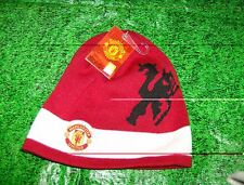 Licensed Manchester United Red with White Band Knit Hat