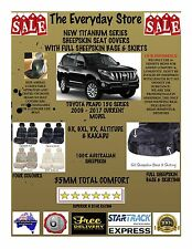 Toyota Prado 150 Titanium Sheepskin Car Seat Covers All Over Botm Pr ABAG 35MM