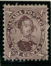 Colony of Canada 1859 Prince Albert 10 cent SG 34 Used