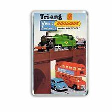 RETRO - TRIANG OO RAILWAYS MINIC MOTORWAYS  ART -JUMBO FRIDGE/ LOCKER MAGNET