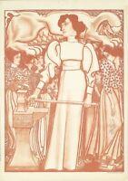 Affiche originale - J.Toorop - Arbeid voor de vrouw  - Symbolisme Féminisme 1898