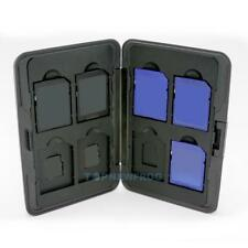 Aluminum Memory Card Storage Case Box Protector Holders for 8 SD/MMC Cards