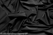 Dance Costume Lycra Fabric Black Matt Nylon Spandex 50cm - 150cm wide