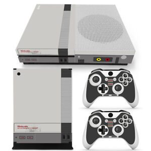Xbox One S Console Skin Decal Sticker Old NES Retro + 2 Controller Design Set