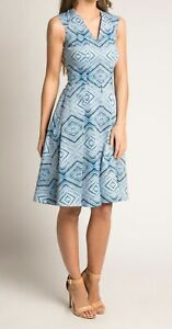 Brand new with the tags designer dress in printed cotton sateen size 10