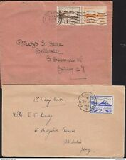 O) 1943 GERMANY, OCCUPATION IN JERSEY, 2 COVERS, 1ST DAY OF ISSUE,LIGHTHOUSE,LAN