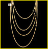 18K YELLOW GOLD GF THIN WIDTH 2MM ROPE CHAIN WOMEN MEN SOLID 16-30 INCH NECKLACE